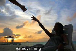 In Touch - Modern Art of Michaelangelo! Taken in Maldives... by Edvin Eng 